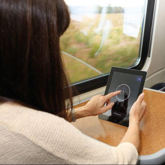 Worcester Wave App Insitu use on Train